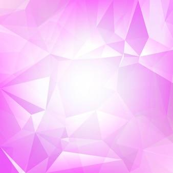 Abstrakter quadratischer dreieckhintergrund der steigung. zarte rosafarbene polygonale kulisse für die geschäftspräsentation. weicher farbverlauf für mobile anwendungen und das web. trendiges geometrisches buntes banner.