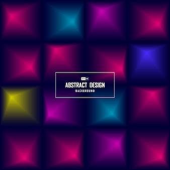 Abstrakter quadratischer farbverlauf des technischen entwurfsmusterabdeckungshintergrunds.