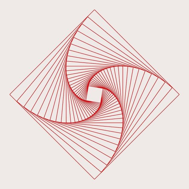 Abstrakter quadratischer geometrischer elementvektor