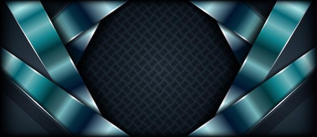 Abstrakter realistischer metallischer designfahnenluxushintergrund mit deckschichten