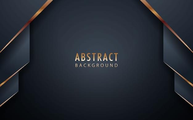 Abstrakter realistischer schwarzer hintergrund mit goldener liste