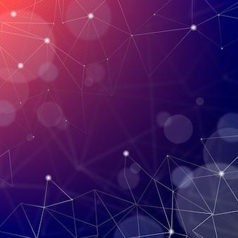 Abstrakter realistischer technologiepartikelhintergrund