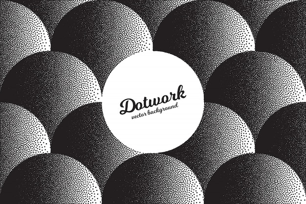 Abstrakter retro- dotwork-beschaffenheits-hintergrund