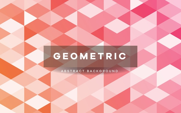 Abstrakter rosa geometrischer formenhintergrund