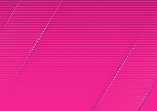 Abstrakter rosa gestreifter hintergrund mit diagonalen streifen 3d
