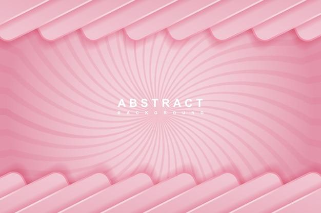 Abstrakter rosa hintergrund mit konzept der form 3d