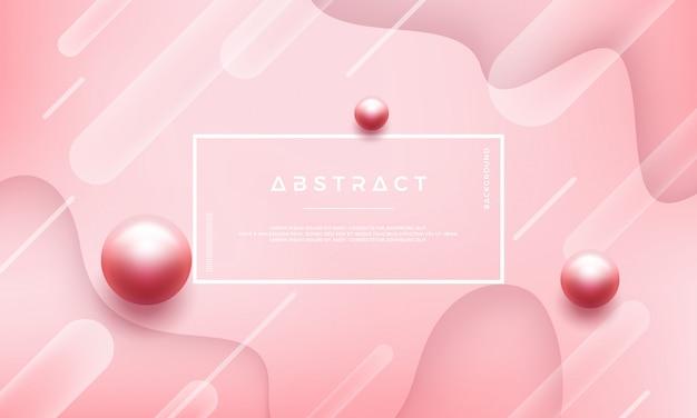 Abstrakter rosa hintergrund mit schönen perlen
