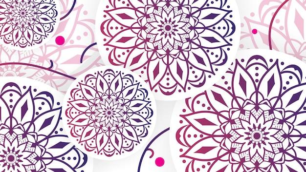 Abstrakter rosa mandala-kunst-dekorativer hintergrund 2