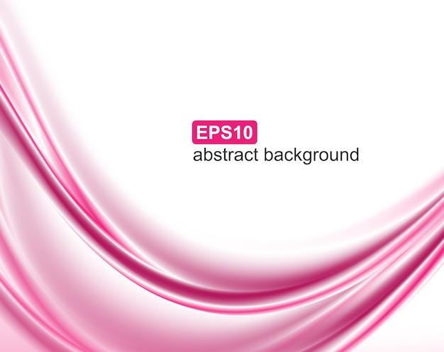 Abstrakter rosa wellenhintergrund