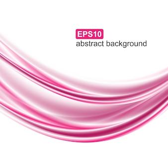 Abstrakter rosa wellenhintergrund.