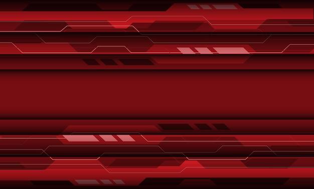 Abstrakter rot-grauer cyber-geometrischer technologieentwurf moderner futuristischer hintergrund