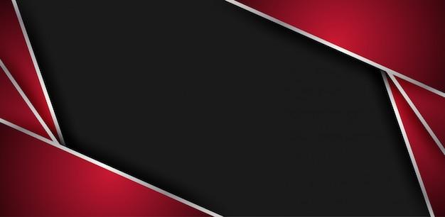 Abstrakter rot-schwarzer geometrischer deckungshintergrund