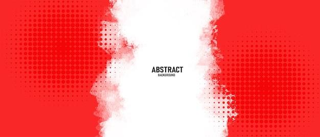 Abstrakter roter aquarellhintergrund mit halbtoneffekt