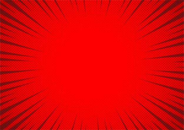 Abstrakter roter comic-hintergrundkarikaturstil. sonnenlicht.
