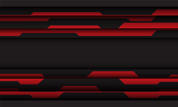 Abstrakter roter grauer cyber geometrischer und leerraumentwurf moderner futuristischer technologiehintergrund