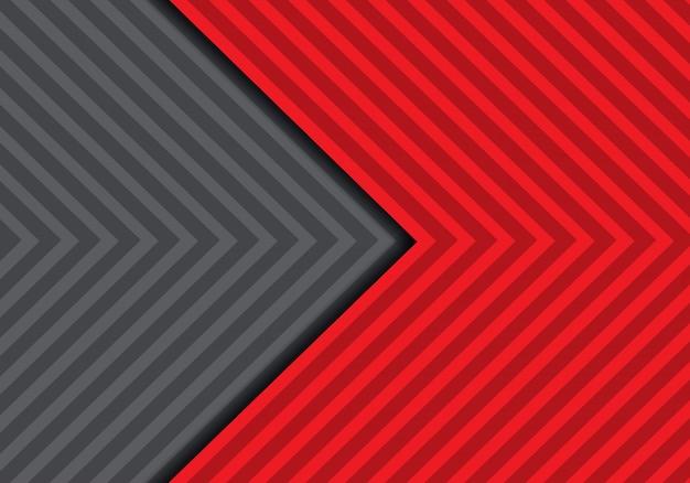 Abstrakter roter grauer pfeilmusterhintergrund.