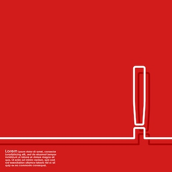 Abstrakter roter hintergrund mit ausrufezeichen