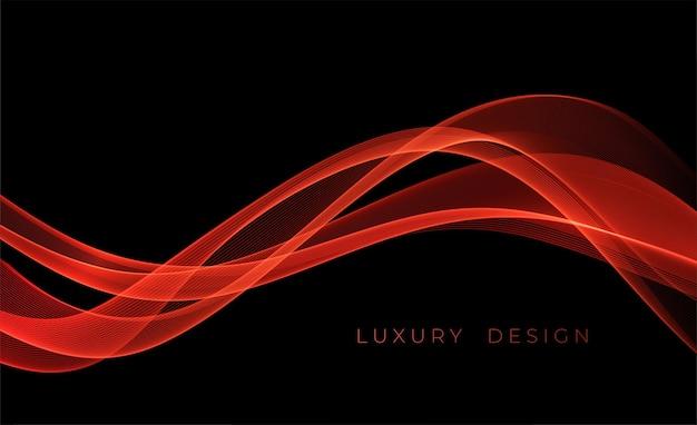 Abstrakter roter hintergrund mit lichteffekt futuristisches design-layout für präsentationen poster flye ...