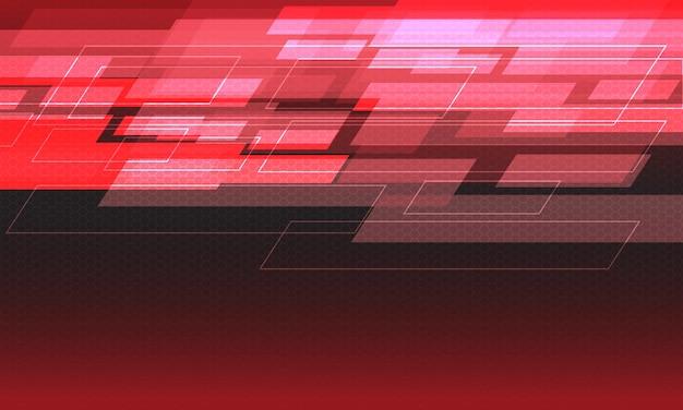 Abstrakter roter lichtgeschwindigkeits-geometrischer hexagonmaschenentwurf moderner technologie futuristischer hintergrund