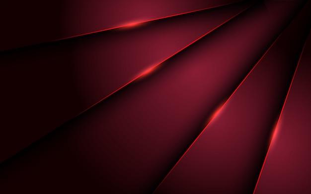 Abstrakter roter luxushintergrund mit überlappungsschichten. textur mit glänzendem rotlichteffekt.