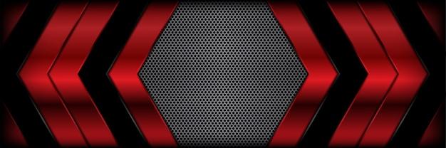 Abstrakter roter metallischer realistischer texturhintergrund 3d 3d