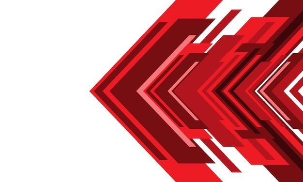 Abstrakter roter pfeil geometrische richtung weißer leerraumdesign moderner futuristischer hintergrundvektor