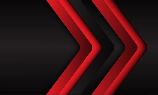 Abstrakter roter pfeil mit leerraumentwurf