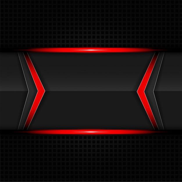 Abstrakter roter und schwarzer technologiepfeilhintergrund