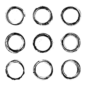Abstrakter runder grunge vektor-satz