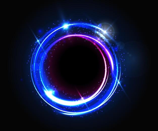 Abstrakter runder lichtrahmen
