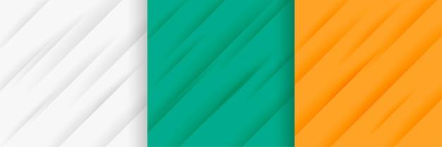 Abstrakter satz diagonaler linienmusterhintergrund
