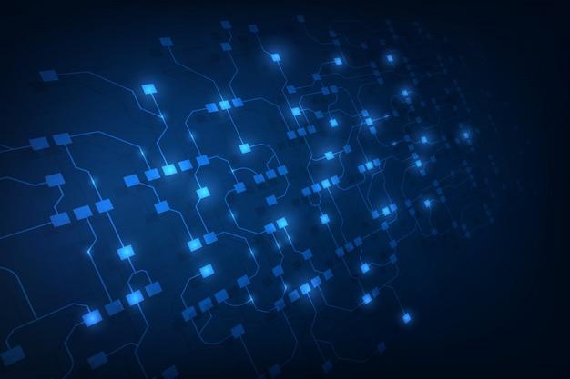 Abstrakter schaltkreisvernetzung blockchain konzepthintergrund