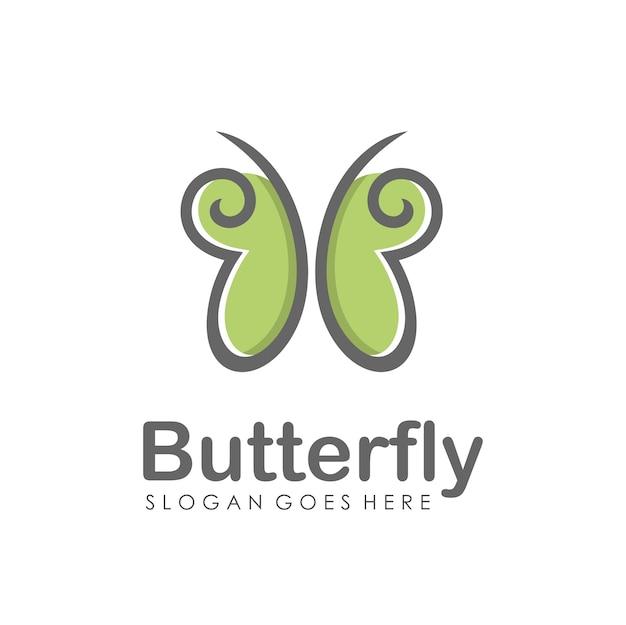 Abstrakter schmetterling logo-design