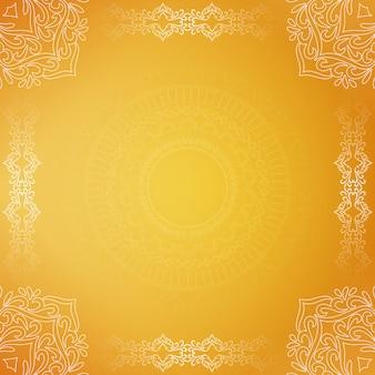 Abstrakter schöner dekorativer gelber luxushintergrund