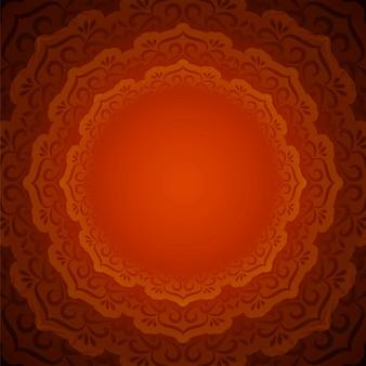 Abstrakter schöner dekorativer mandalahintergrund