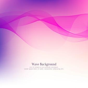 Abstrakter schöner rosa wellenhintergrund