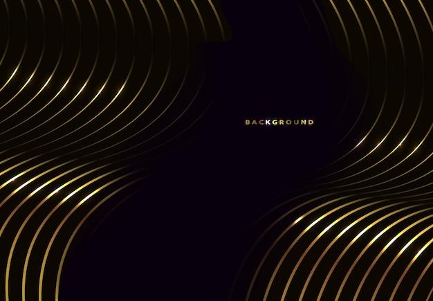 Abstrakter schwarz- und goldhintergrund. vektor