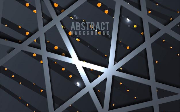 Abstrakter schwarz- und goldhintergrund - vektor
