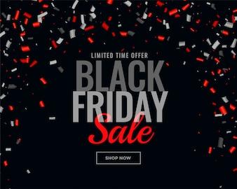 Abstrakter schwarzer Freitag-Verkaufskonfettihintergrund