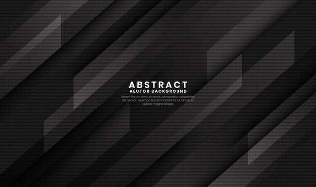 Abstrakter schwarzer geometrischer hintergrund mit kohlefasertextur