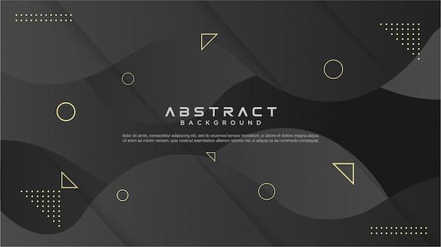 Abstrakter schwarzer geometrischer hintergrund