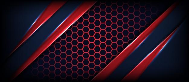 Abstrakter schwarzer hintergrund mit diagonalen roten linien