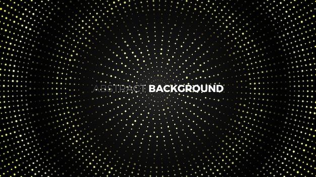 Abstrakter schwarzer hintergrund mit goldenen punkten. illustration.