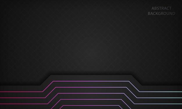 Abstrakter schwarzer hintergrund mit steigungslinie