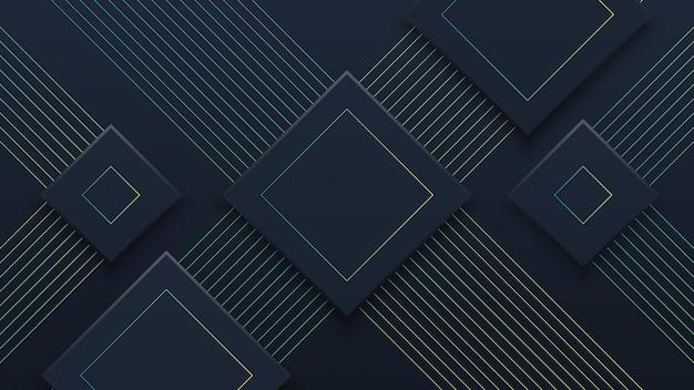 Abstrakter schwarzer papierschnitt-hintergrund mit grünen grenzen