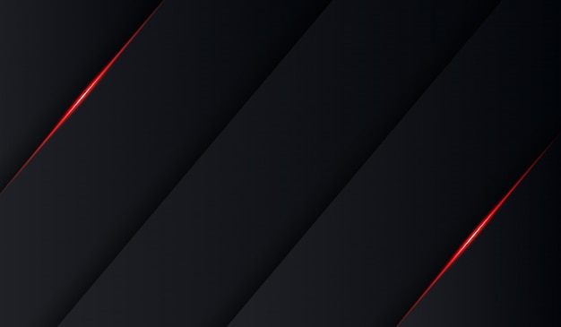 Abstrakter schwarzer roter glänzender techfaltenschattenhintergrund