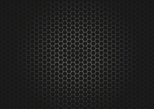 Abstrakter schwarzer sechseckmusterhintergrund