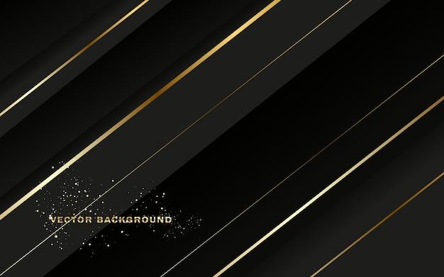 Abstrakter schwarzer und goldener hintergrund