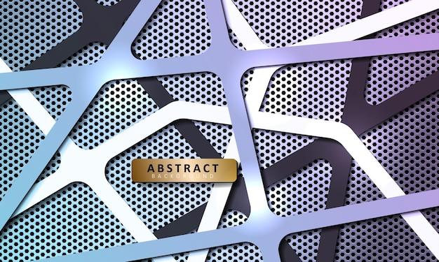 Abstrakter sechseckiger metallhintergrund