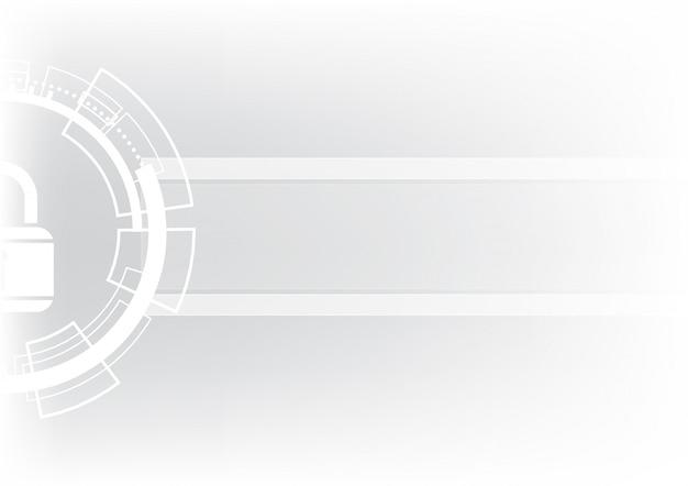 Abstrakter sicherheitsschloss-kreishintergrund der technologie